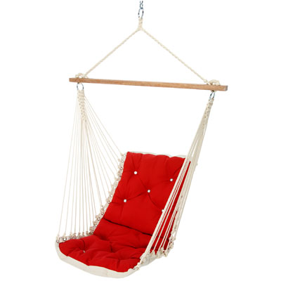 Tufted Swing Hammock - Jockey Red