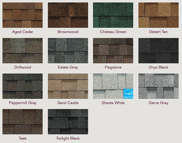 Owens Corning Oakridge® Shingles featuring Artisan Colors