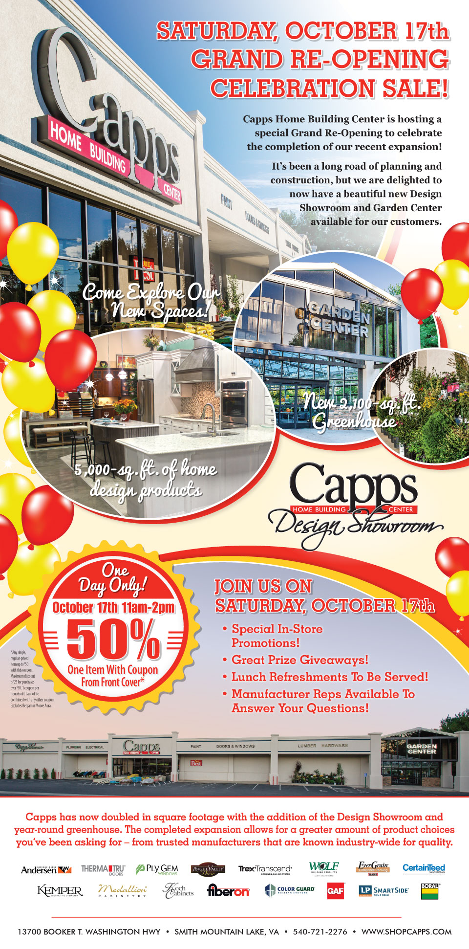 Capps Grand ReOpening Oct 17th, 2015