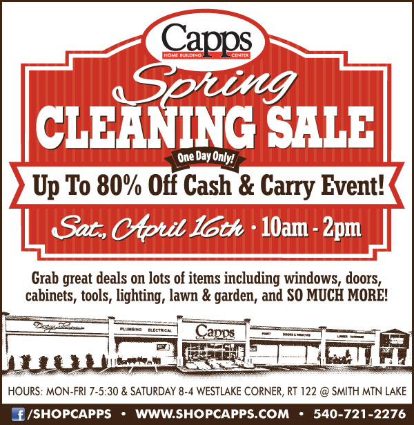 Capps Spring Cleaning Sale Ad