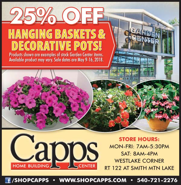 hanging baskets sale ad