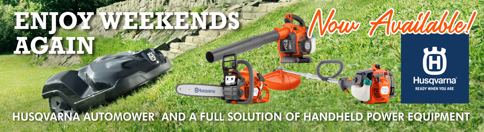 Husqvarna Now Available