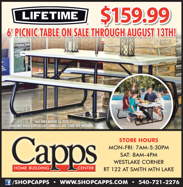 lifetime picnic table ad