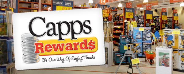 Capps Rewards is our free customer rewards program that rewards you for making purchases and remaining a loyal customer!
