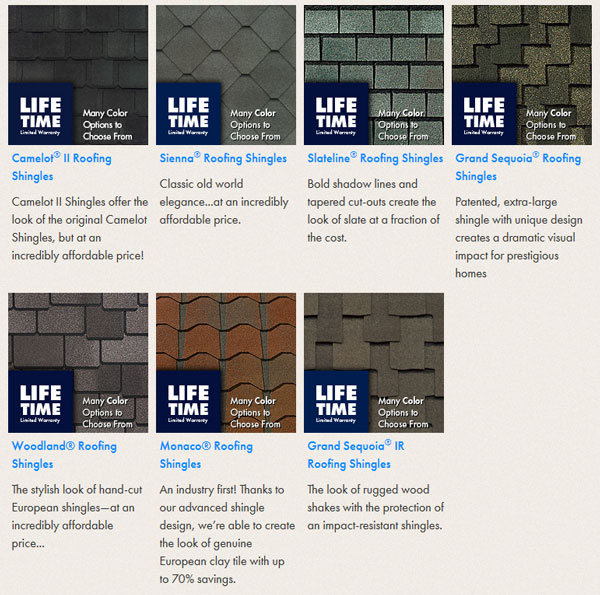 Value Collection Designer Roofing Shingles