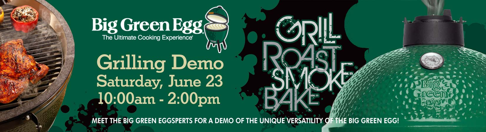 Big Green Egg Grilling Demo image