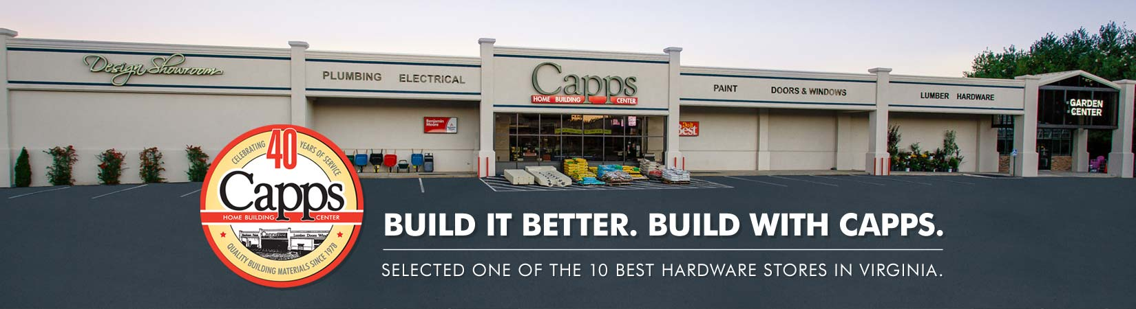 Capps Home Building Center Welcome Slide