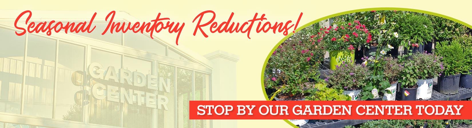 garden center seasonal inventory reduction